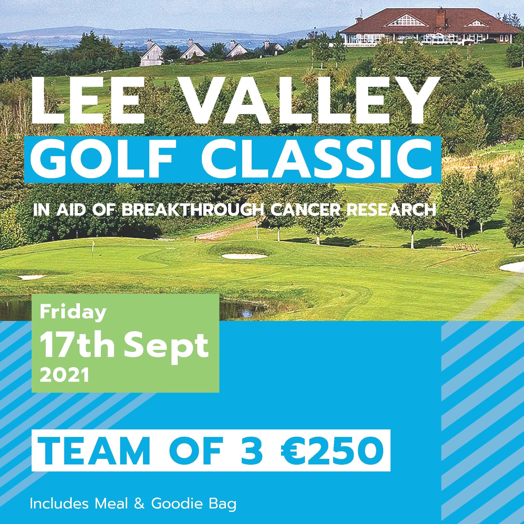 Lee Valley Golf Classic in aid of Breakthrough Cancer Research