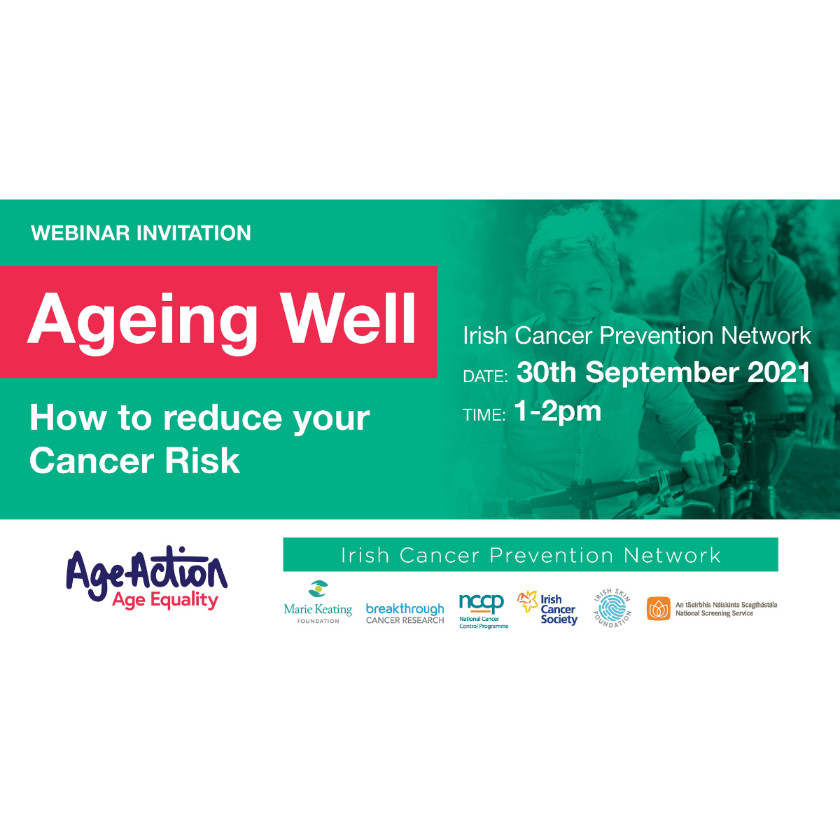 Ageing Well: How to reduce your Cancer Risk – Webinar
